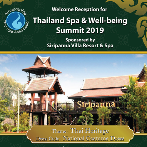 Welcome Reception for Thailand Spa & Well-being Summit 2019